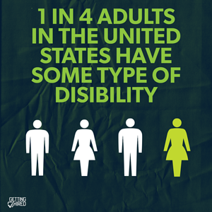 1 in 4 Americans has a disability Instagram post